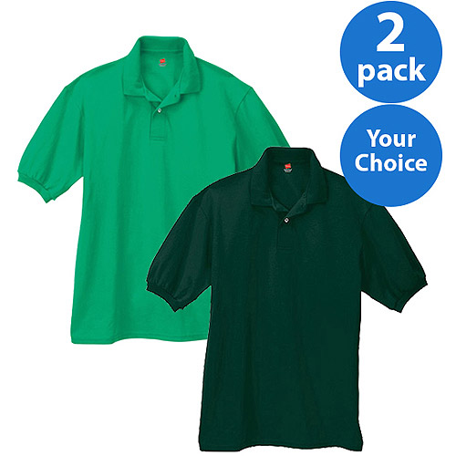 Hanes Big Men's Comfortblend EcoSmart Jersey Polo, 2 Pack