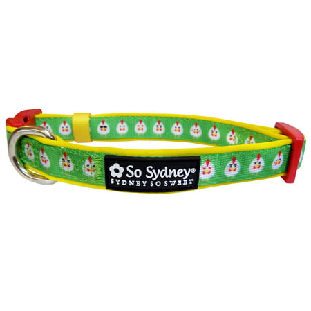 Funky Chicken Row - Designer Cute Matching Dog Collar and Leash - Fun & Funky Collection