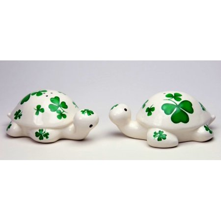Shamrock Turtle Salt & Pepper Shaker