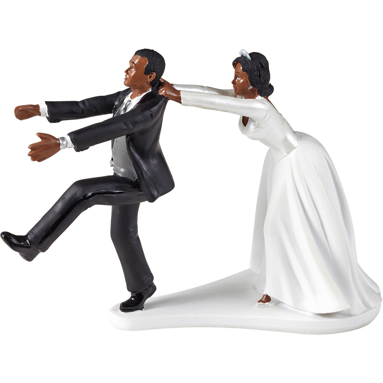 Wilton Wedding Cake Topper, Oh No You Don\'t - Walmart.com