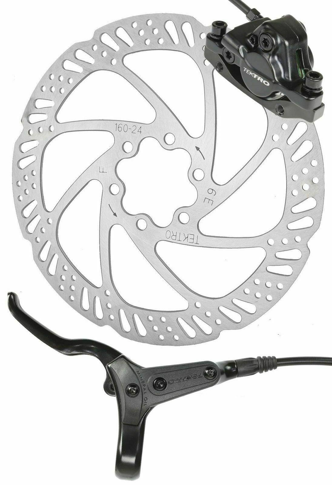 Tektro HD-M285 Hydraulic Disc Front Bike Brake 160mm 6 Bolt Disc w// Rotor /& Pads