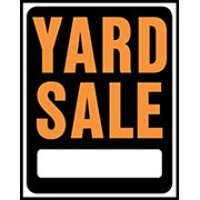 HY-KO Hy-Glo SP-111 Jumbo Identification Sign, YARD SALE, Fluorescent Orange Legend 5 Pack