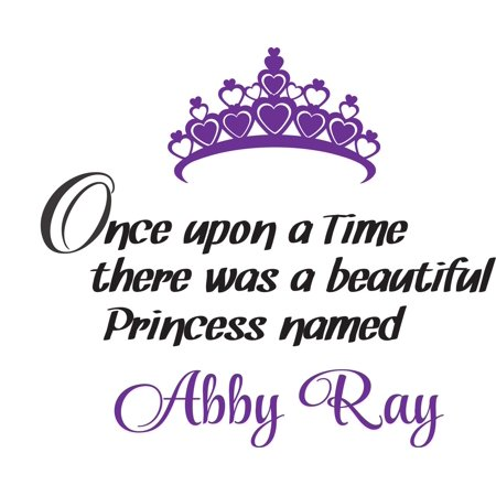 A Princess Crown (Personalized Name Vinyl Decal Sticker Custom Initial Wall Art Personalization Decor Girl Bedroom Once Upon A Time Beautiful Princess Crown Fairytale 16 Inches X 16)