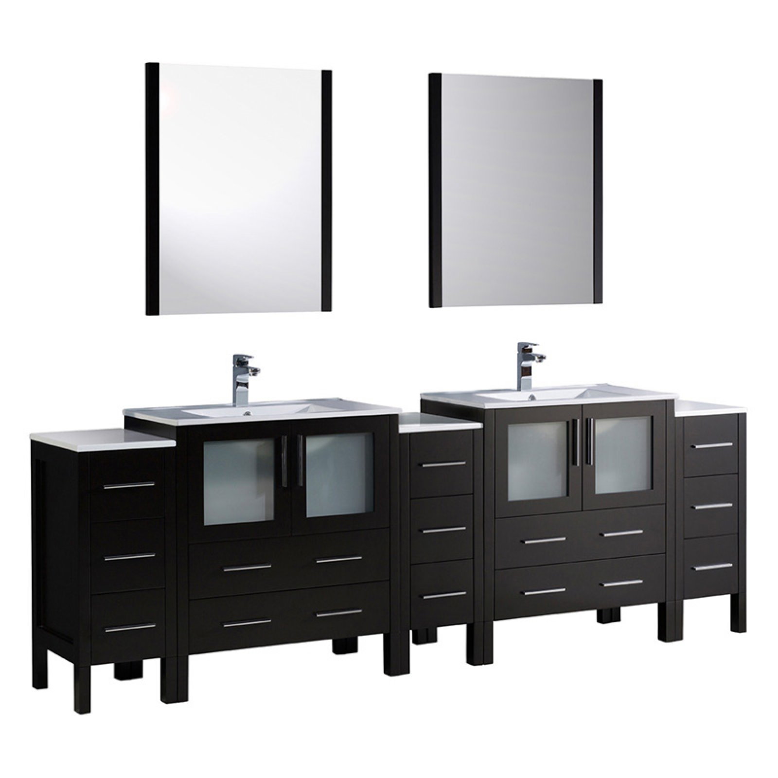 Fresca Torino 96 in. Double Bathroom Vanity with Integrated Sinks ...