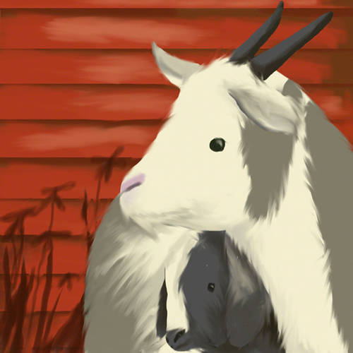 Oopsy Daisy's Maggie's Goats Canvas Wall Art, 10x10