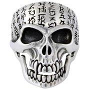 Hellfire Jewelry HellFire Sterling Silver Genghis Khan Skull Ring