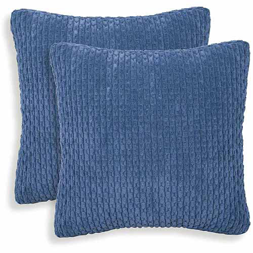 Beacon Ribbed Plush Toss Pillow, Set of 2