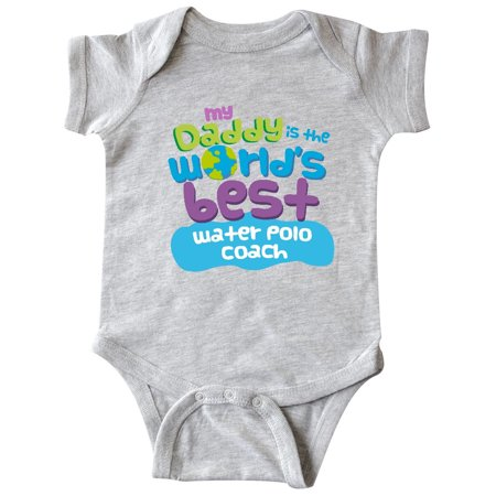 Inktastic My Daddy is the Worlds Best Water Polo Coach Infant Creeper (Newborn Polo Bodysuit)