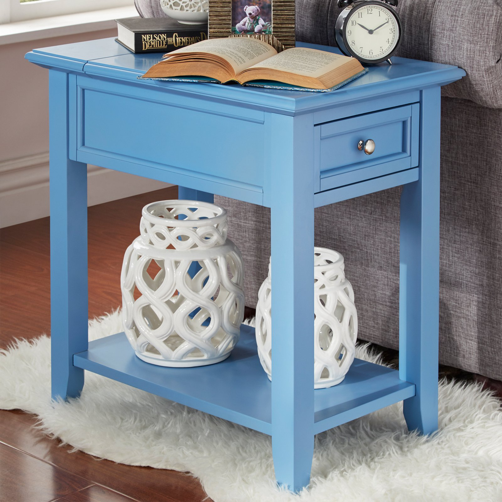 Chelsea Lane End Table With Power Outlet Walmart Com