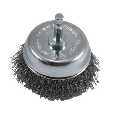 72731 Wire Cup Brush, Coarse Crimped with 1/4-Inch Hex Shank, 3-Inch-by-.012-Inch, Adds Extra shine to your product By Forney