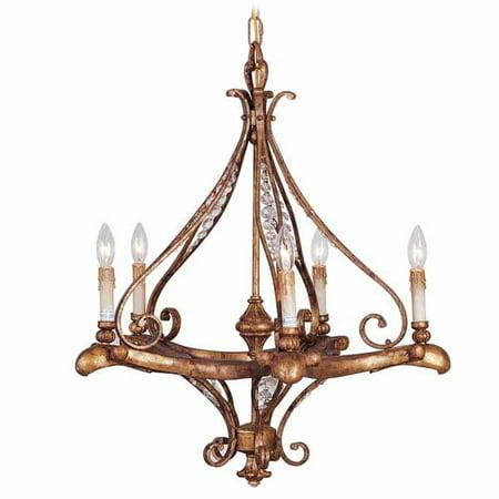 Volume Lighting V3855 Golden Ore Baroque 5 Light 26