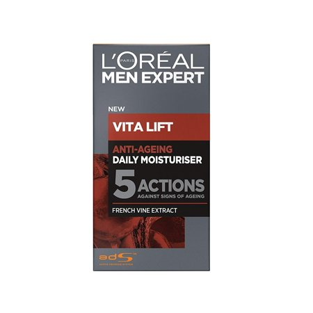 L'Oreal Men's Expert Vita Lift Anti Aging Daily Moisturizer, 50 ml (1.7 Oz) + Cat Line Makeup (Skin Care Experts Microcurrent Face Lift Reviews)