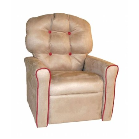 Dozydotes Child Recliner - Dozydotes 18005 Kids Accent Rocker Recliner, Oyster & Dusty Rose
