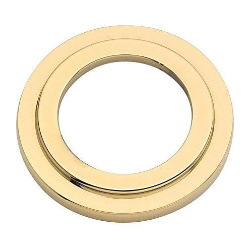 "Baldwin 8297003 Cylinder Collar Spacer for 1-3/8"" Doors, 2-1/8"" Prep Lifetime Brass Finish"