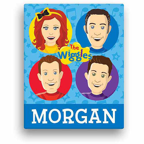 "Personalized The Wiggles Fab Four 11"" x 14"" Canvas Wall Art"