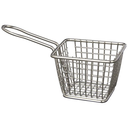 American Metalcraft Rectangular Basket - American Metalcraft FRYT433 S/S Mini Fry Basket