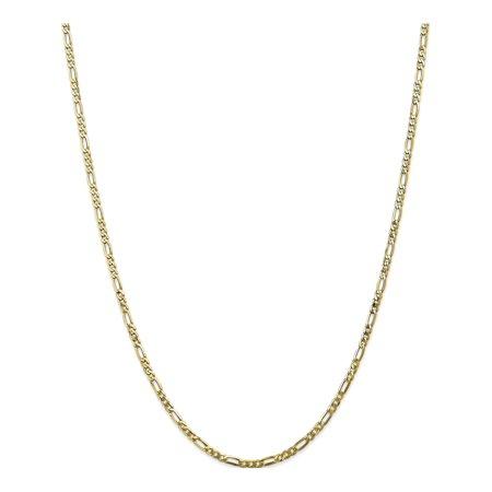 10k Yellow Gold 2.75mm Flat Figaro Chain - image 5 of 5