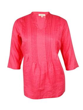 b5ec5b2d403 Product Image Charter Club Women s Pintucked Woven Linen Tunic