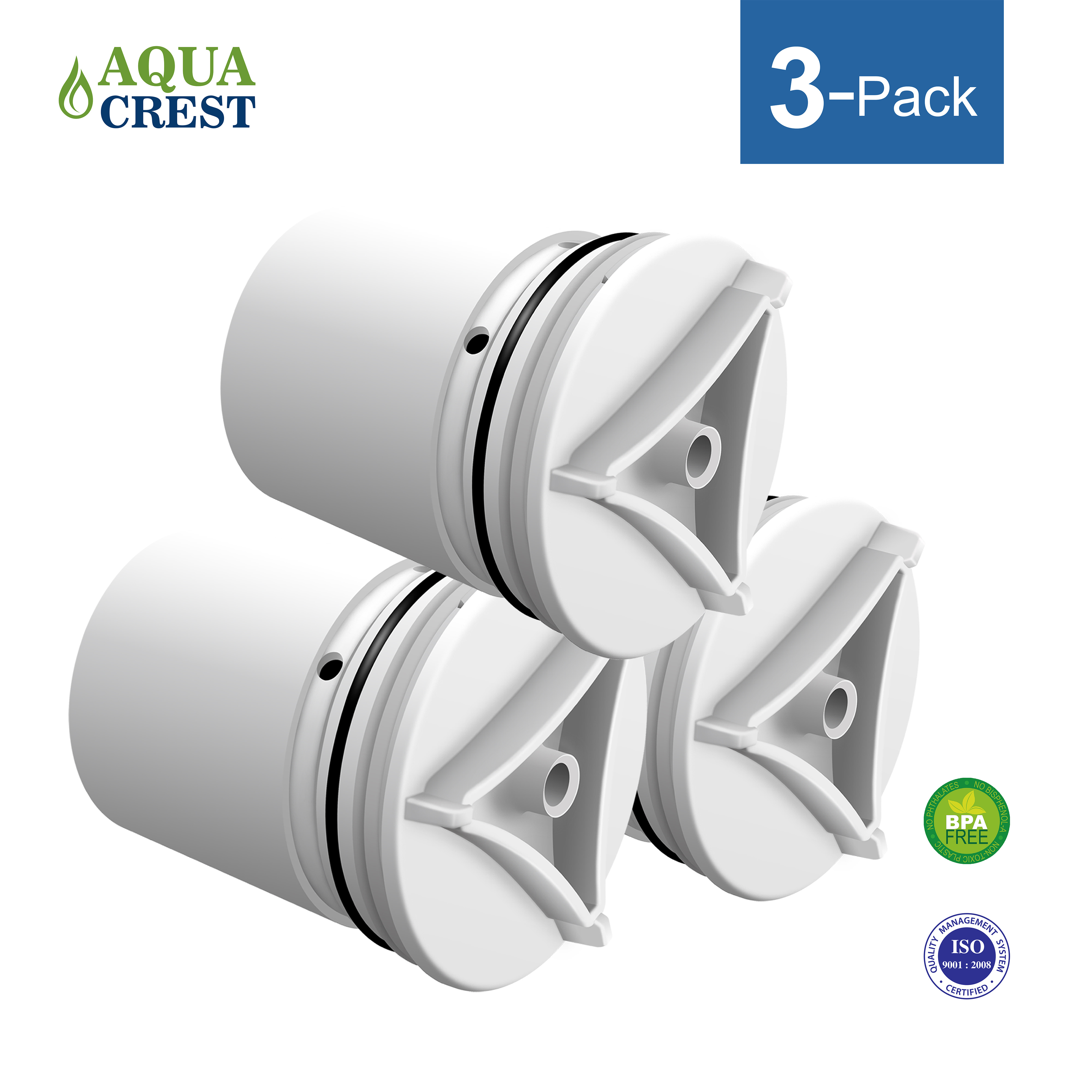 3 Pack AQUACREST FM-15RA Faucet Water Filter Replacement for Culligan FM-15RA