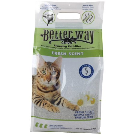 Better Way Fresh Scent Cat Litter 14 Pound Bag