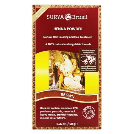 Surya Brasil - Henna Powder Natural Hair Coloring Brown - 1.76 oz.