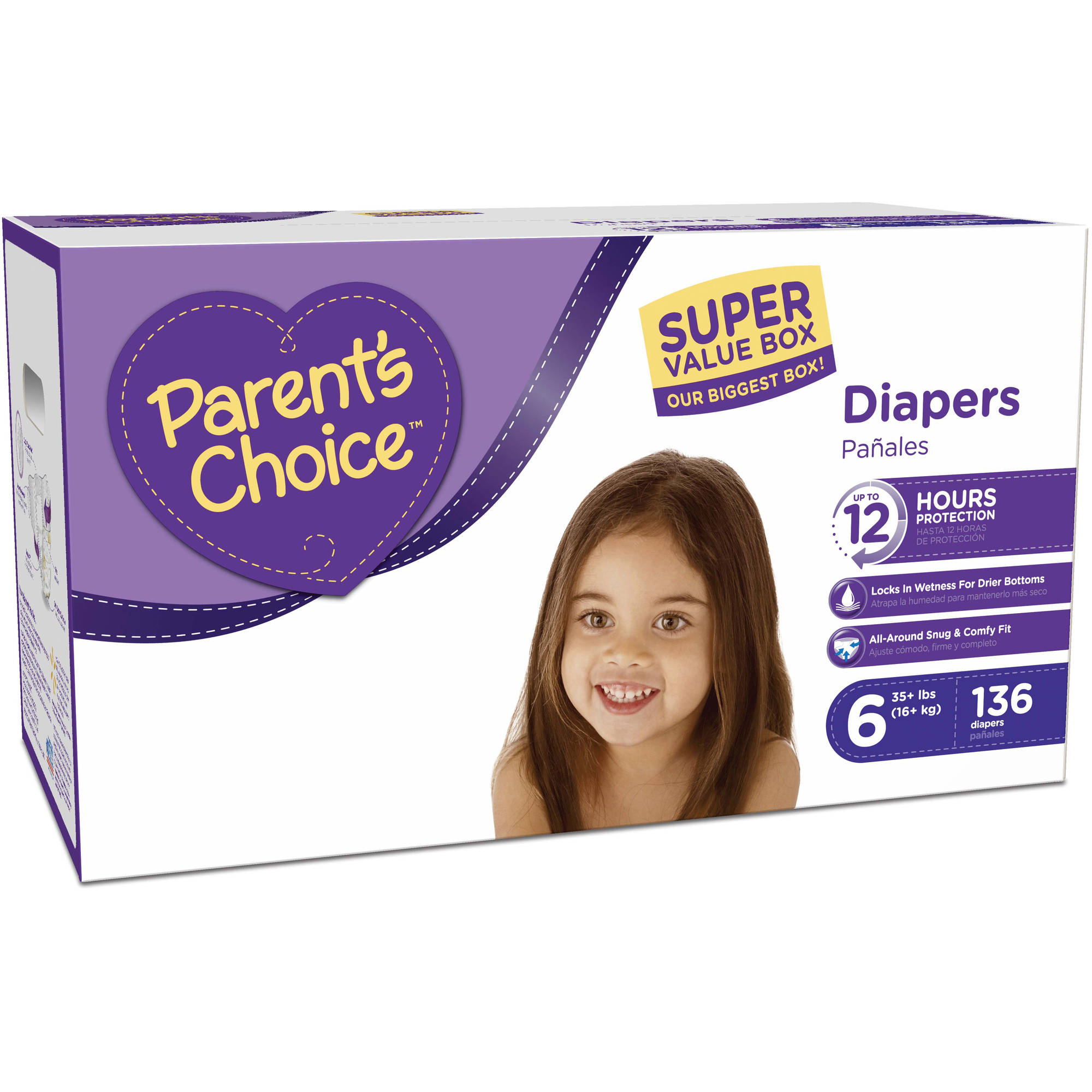 Parent's Choice Diapers, Size 6 (Choose Diaper Count)