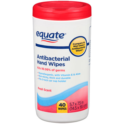 Equate Fresh Scent Antibacterial Hand Wipes, 40 sheets