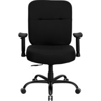 Hercules Series Big And Tall Office Task Chair With Arms Black Holds Up To 500 Lbs