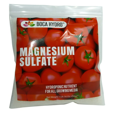 Boca Hydro Magnesium Sulfate Commercial Nutrient 1 LB Water Soluable Fertilizer Hydroponics Grade