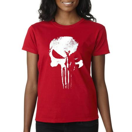 The Punisher Woman (New Way 687 - Women's T-Shirt New Daredevil Punisher Skull)
