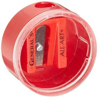 Little Red All-Art Steel Blade Sharpener-, Single hole sharpener that is ideal for all work spaces By General Pencil