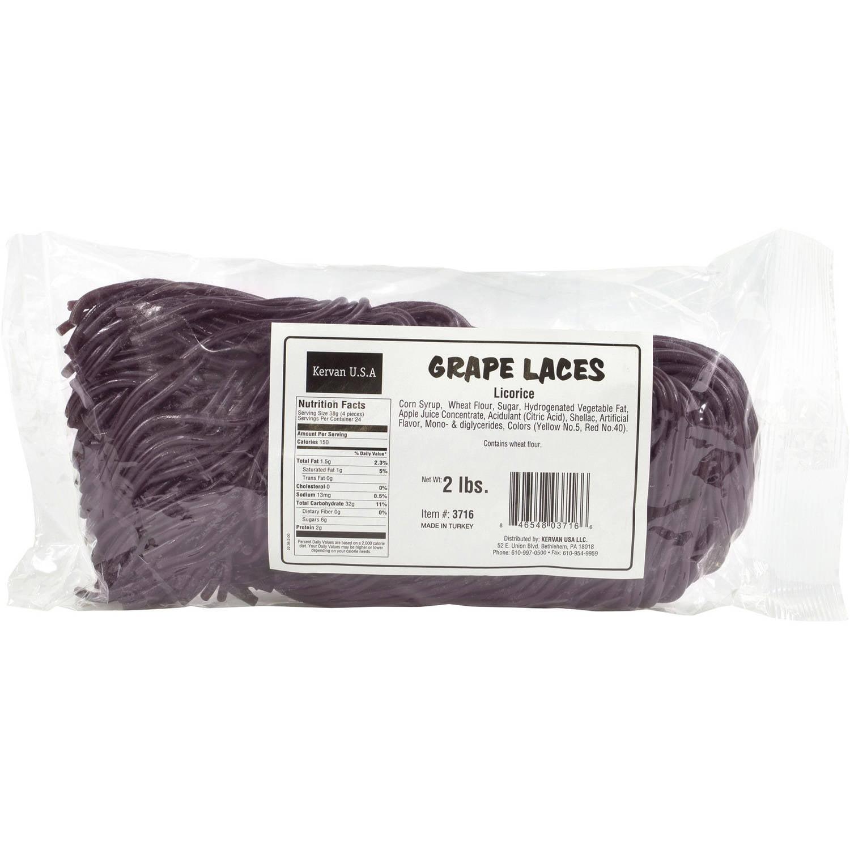 Kervan Grape Laces Licorice, 2 lbs by Kervan