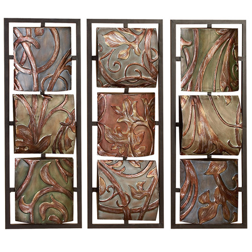 EC World Imports Casa Cortes Sienna Vines Metal Art Wall Decor by ecWorld