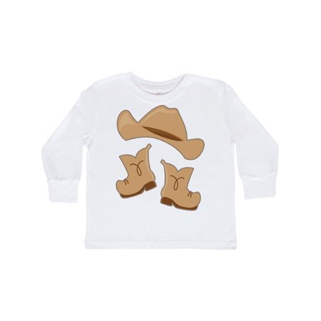 Western Style Boy Boots Toddler Long Sleeve T-Shirt](Western Wear For Boys)