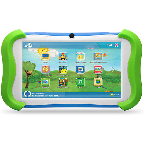 "Refurbished Sprout Channel CUBBY 7"" 16GB Green Android Kid-Friendly Tablet"