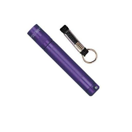 Maglite K3a986 Purple Solitaire Aaa Cell Adjustable Beam Flashlight Key Chain