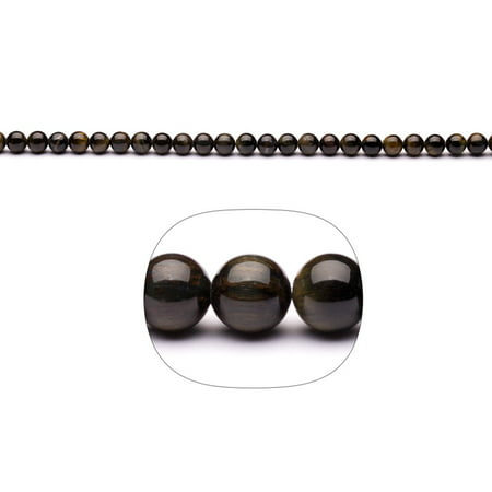 Blue Tiger Eye 6mm Round Beads 16-Inch Stand