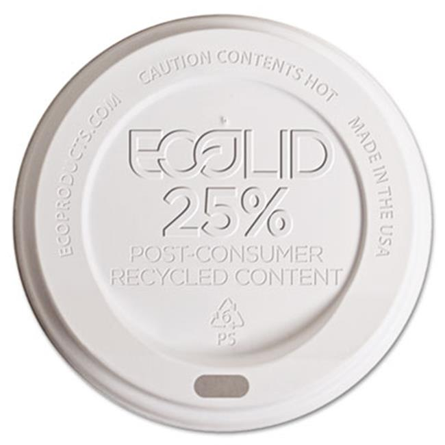 Eco-Products EP-HL8-WR Eco-Lid 25 Percent Recycled Content Hot Cup Lid, Fits 8 oz Cups, 1000-Carton