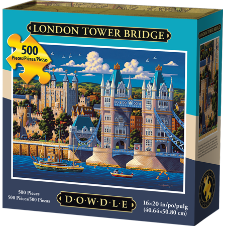 Dowdle Jigsaw Puzzle - London Tower Bridge - 500 Piece