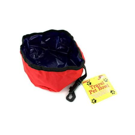 - Bulk Buys DI153-72 Plastic and Nylon Travel Pet Bowl - Pack of 72