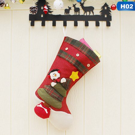 Gardeners Xmas Fireplace Socks Gift Bag Christmas Tree Hanging Ornaments for Family Holiday Decor ()