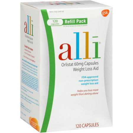 Alli Weight Loss Aid Refill Pack Orlistat 60 Mg Capsules 120ct