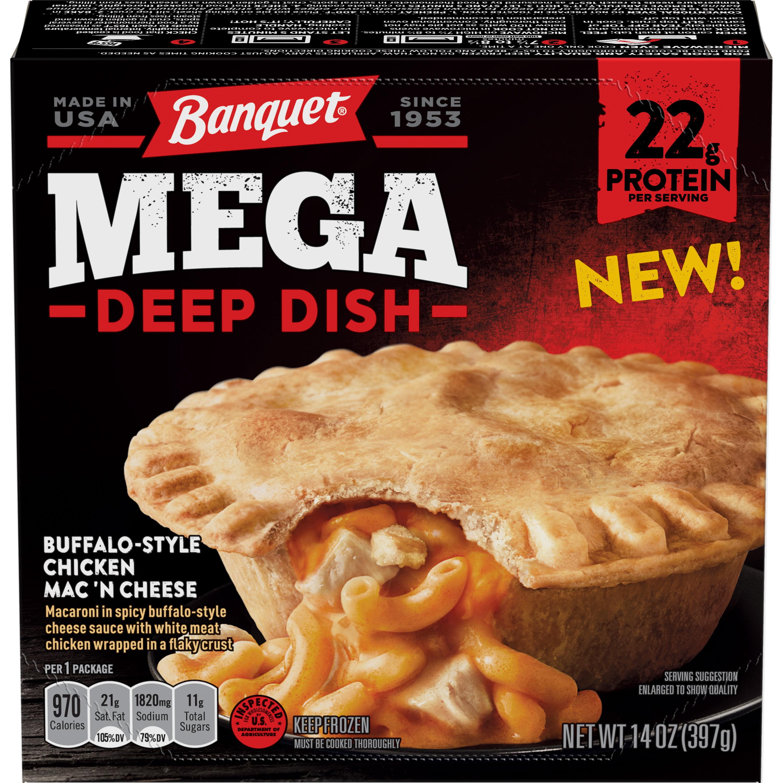 Banquet Mega Deep Dish Buffalo-Style Chicken Mac 'N Cheese, 14 Ounce