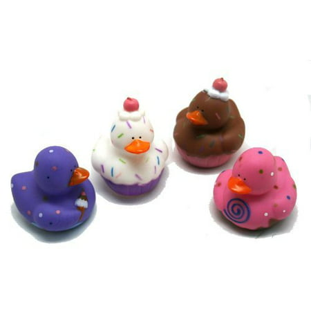 12 Sweet Treat Cupcake Ice Cream Rubber Ducks ()