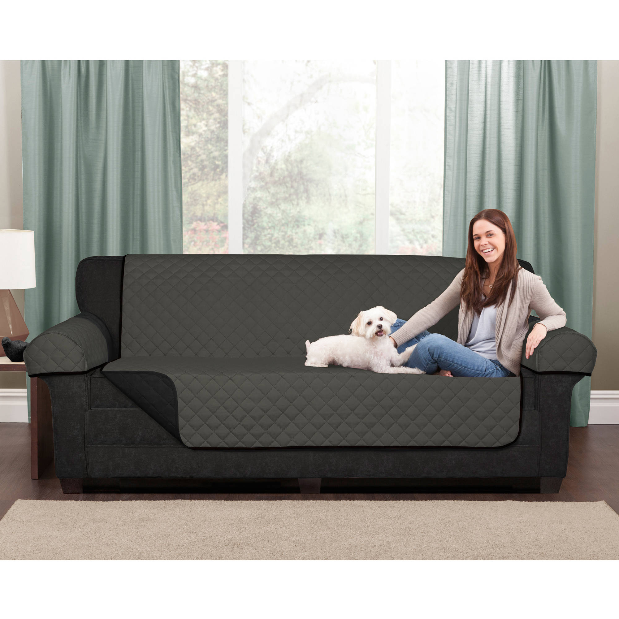 Maytex Reversible Microfiber Fabric Pet/Furniture Protector Collection