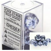 Chessex Nebula Black 7 piece dice set CHX-27408