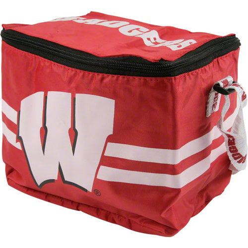 NCAA - Wisconsin Badgers Lunch Bag: 6 Pack Zipper Cooler