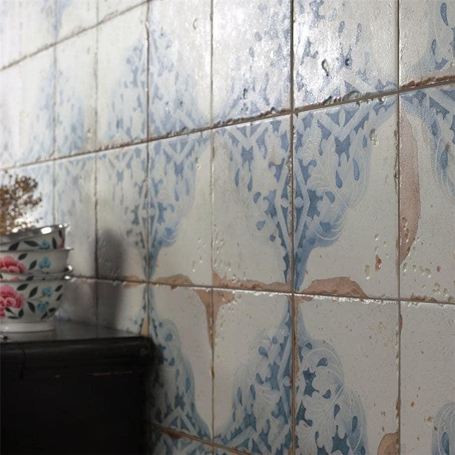 Somertile 13x13-inch Artesano Azul Decor Ceramic Floor And