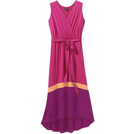 Faded Glory - Faded Glory Women\'s Plus-Size Colorblock Knit Maxi ...