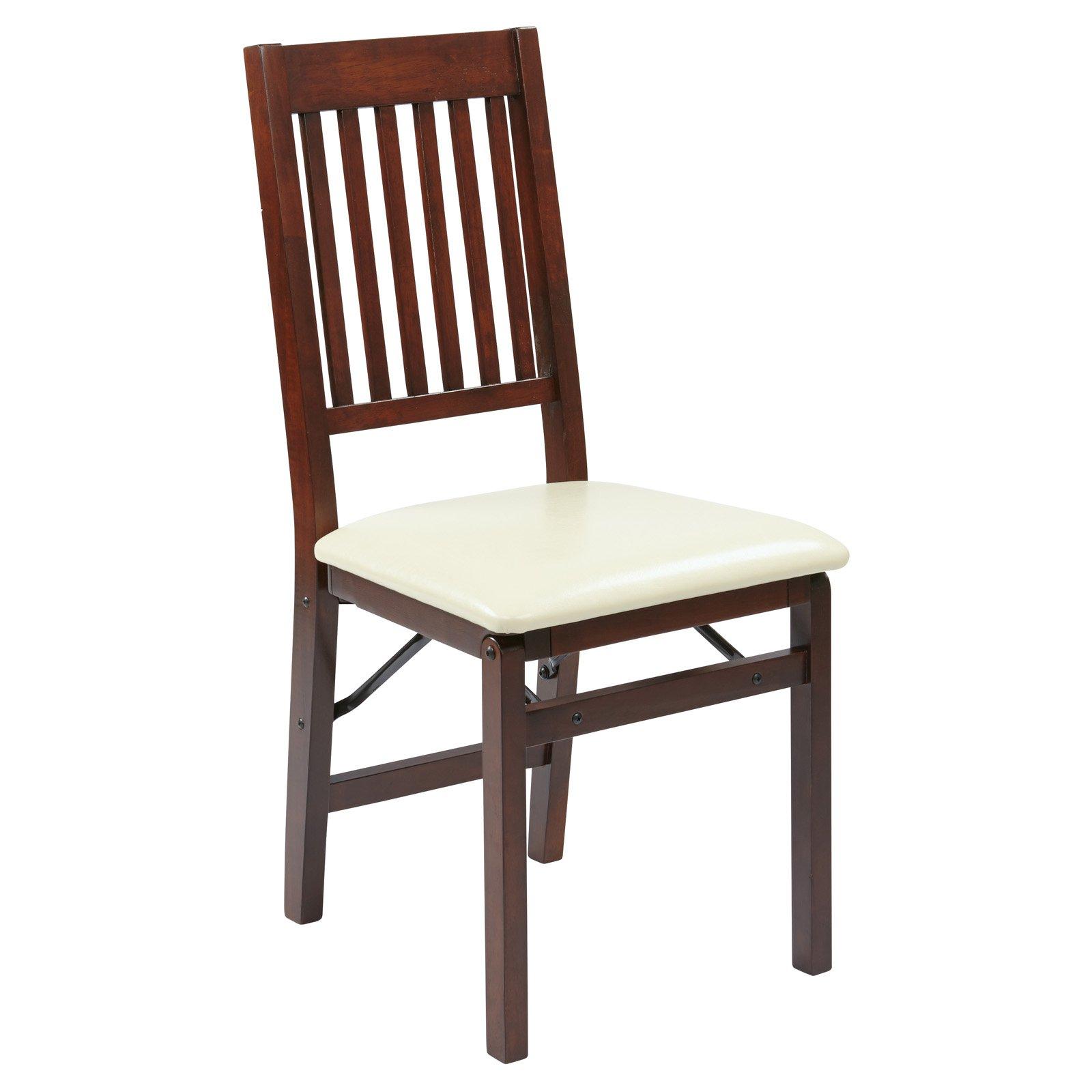 Hacienda Mission Back Folding Chair 2-Pack, Cream